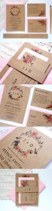 invitation 6 1 75x300 - Save the date, invitations, thank you cards and stationery: we give you the best ideas!