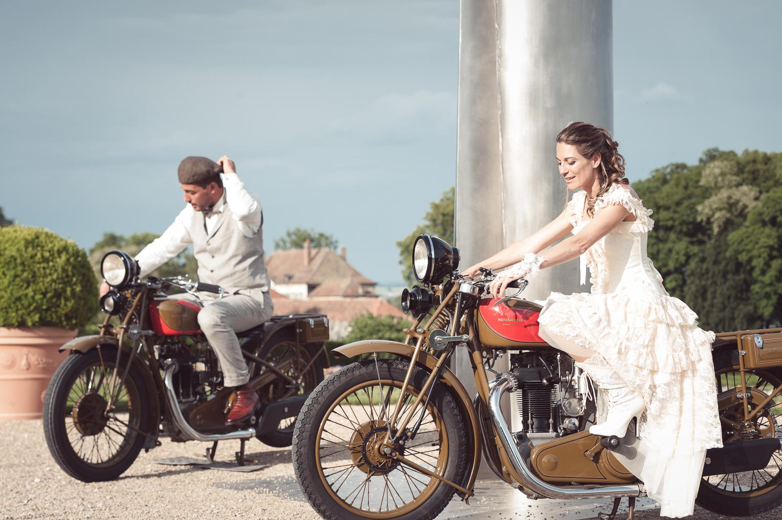 """Déco Moto Web 31 - Le mariage """"Belle Epoque"""" de A&C aux Portes des Iris"""